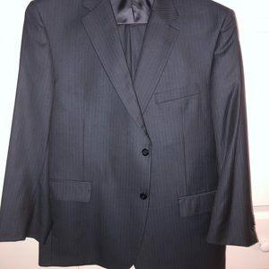 Jos A Banks Dark Gray Pinstripe Suit